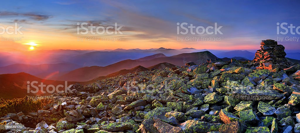 Colorful autumn landscape in the Carpathian mountains royalty-free stock photo