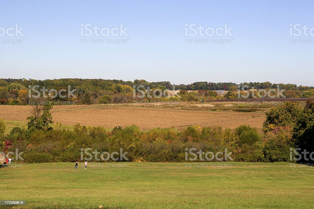 Colorful autumn landscape royalty-free stock photo