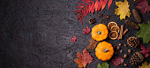istock Colorful autumn or Thanksgiving  background. Mockup for seasonal concept 1282581846