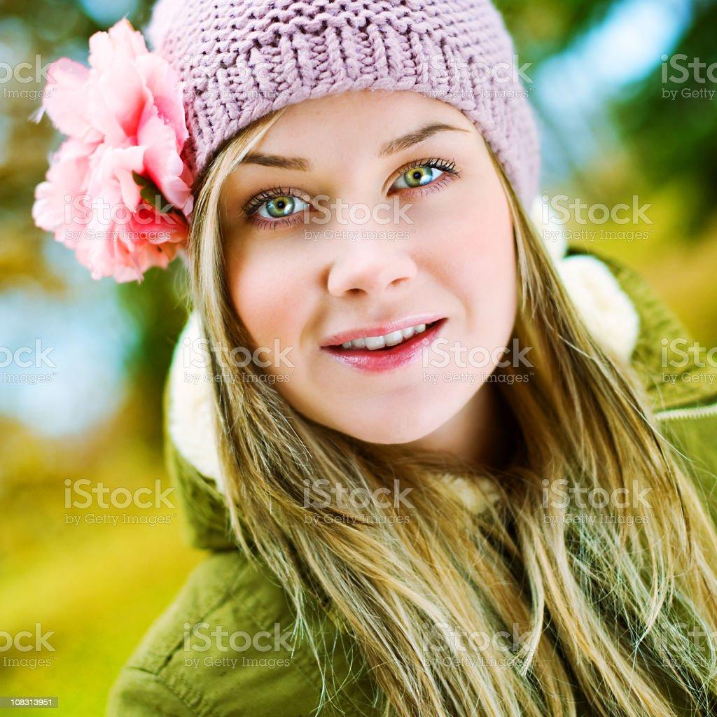 Colorful autumn portrait royalty-free stock photo
