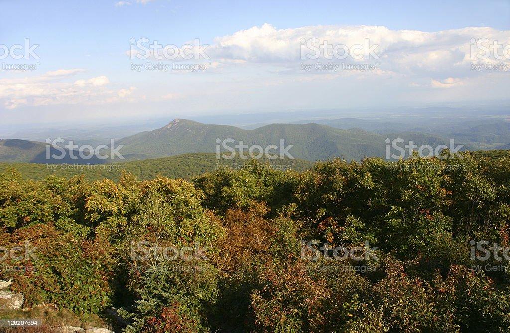 Colorful autumn view at Shenandoah National Park stock photo