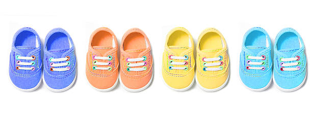 Colorful Baby Canvas Shoes stock photo