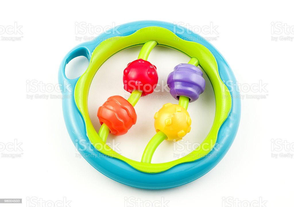 Colorful Baby Rattle royalty free stockfoto