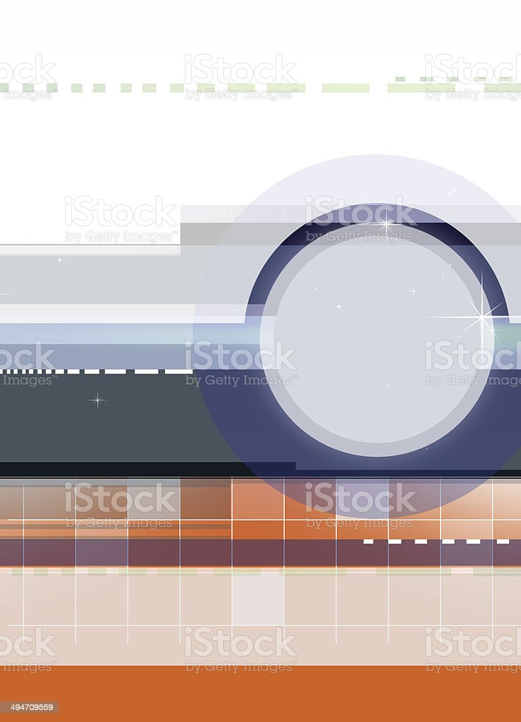 Colorful background design with circle royalty-free stock photo