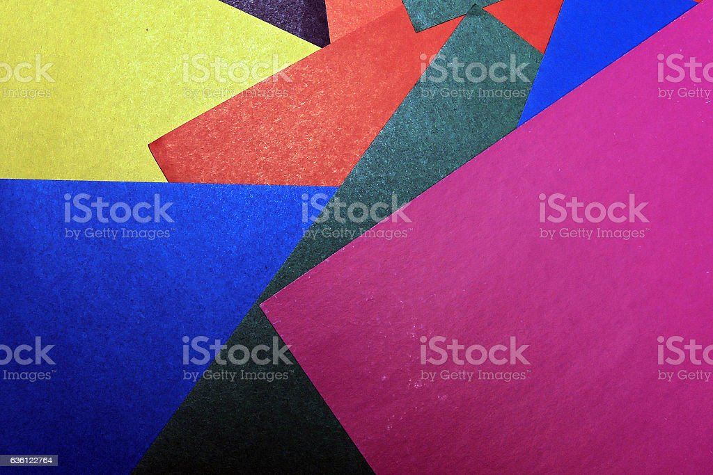 Colorful background from paper of different colors stock photo