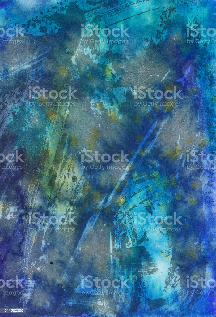 Colorful background hand painted with multiple textures stock photo