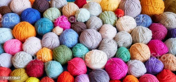 Colorful background made of wool yarn balls picture id1145173547?b=1&k=6&m=1145173547&s=612x612&h=mwmz2a5ygwiscb0pgsb4cd4ngchlbirmigdxzr29cau=