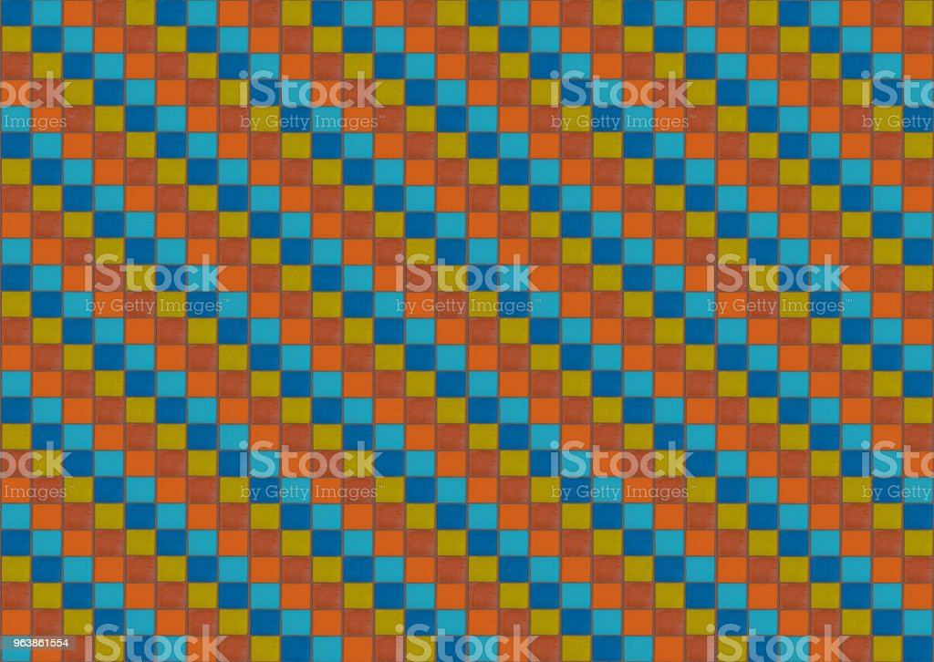 Colorful background. mosaic colored cubes orange blue red infinite series - Royalty-free Art Stock Photo