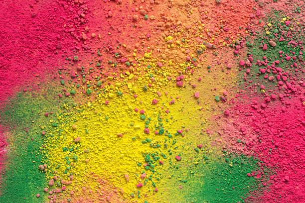 Fond coloré de poudre de craie - Photo