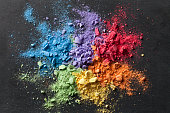 Colorful background of chalk powder