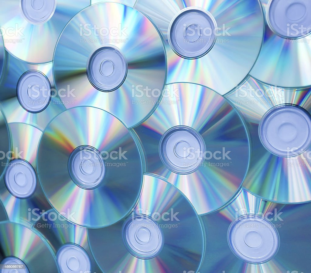 colorful background of compact discs stock photo