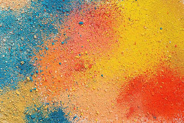 Fond coloré de poudre de pastel - Photo