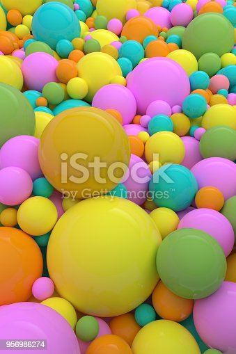 istock Colorful Background of Spheres with a Cheerful Fun Feeling. 956986274
