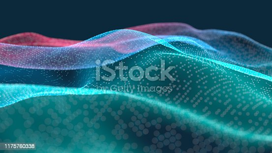Abstract multi colored landscape on a dark background