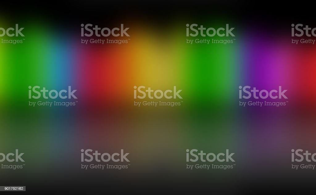 Colorful Background Texture with Bright and Cheerful Blurry Disco Lights at Night stock photo