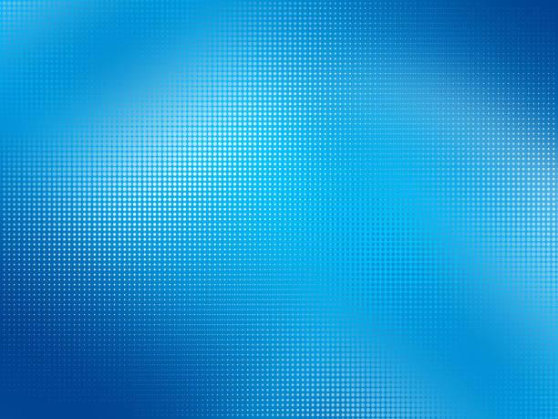 fond coloré avec effet halftone - bleu photos et images de collection