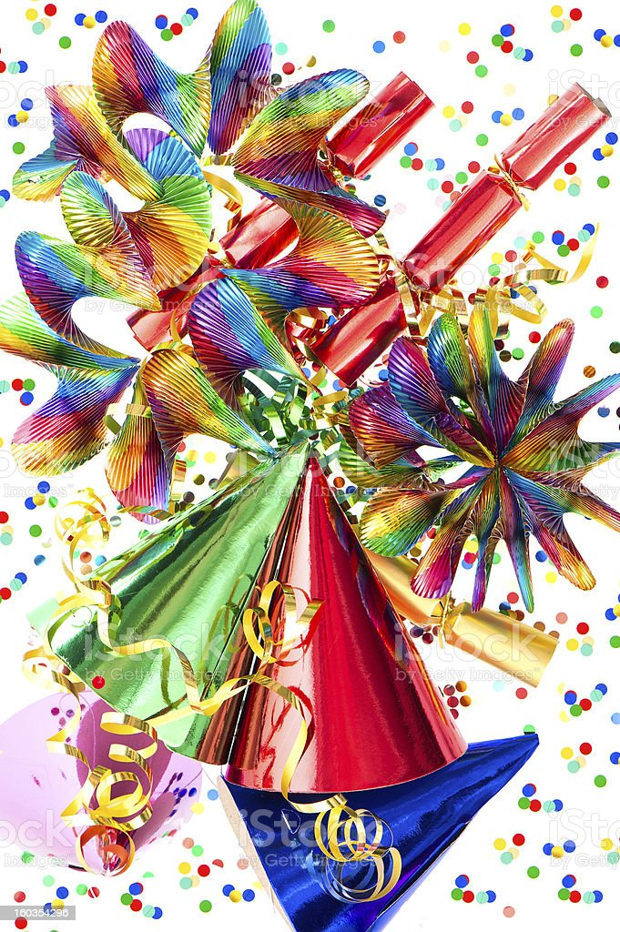 colorful background with party items royalty-free stock photo