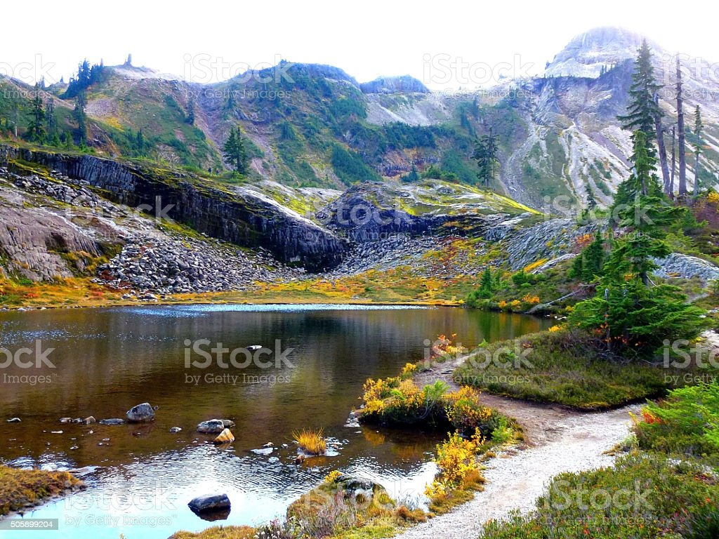 Colorful Bagley LAke view stock photo