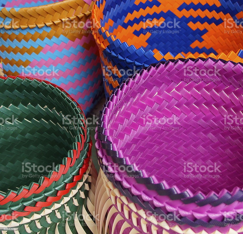 Colorful bags closeup royalty-free stock photo