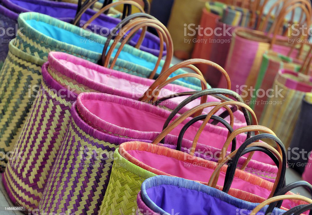 Colorful bags royalty-free stock photo