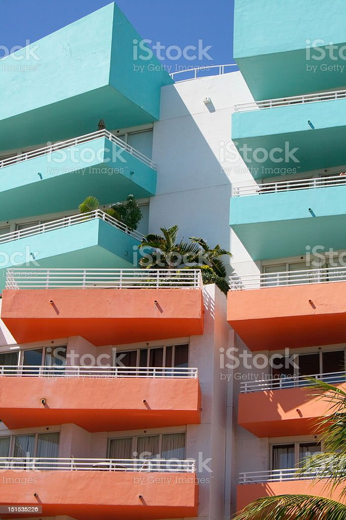 Colorful balconies royalty-free stock photo