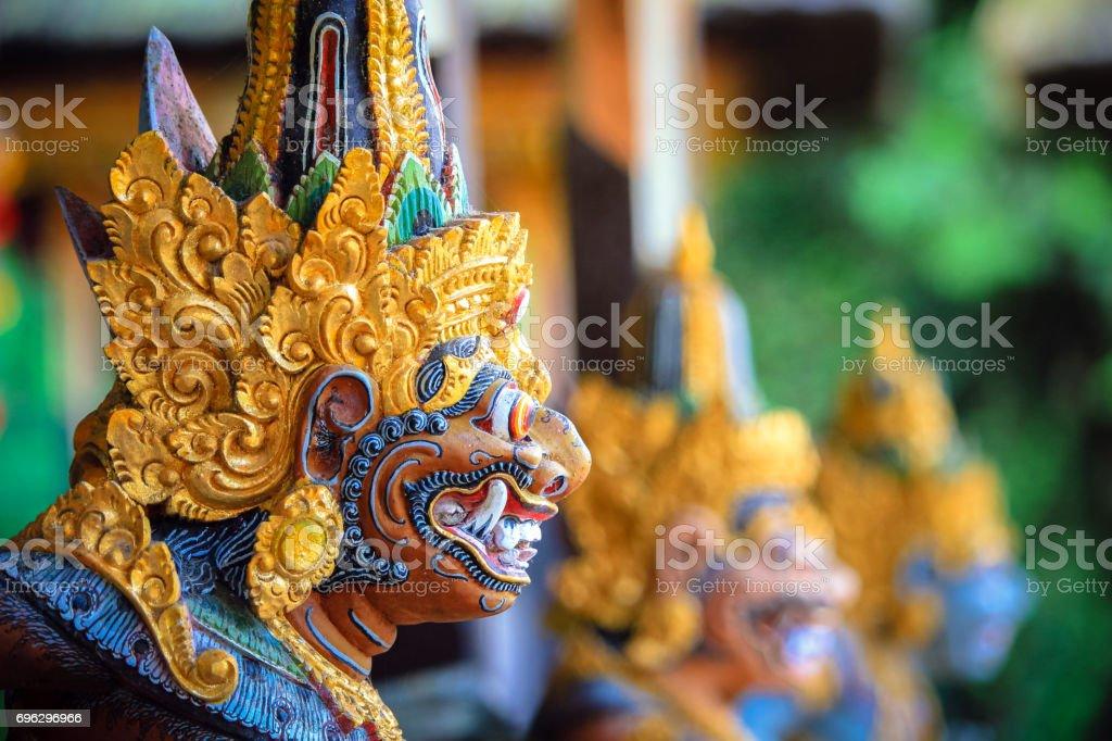Estátua de Balinese colorida - Foto de stock de Arcaico royalty-free