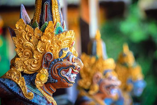Foto de Estátua De Balinese Colorida e mais fotos de stock de Arcaico