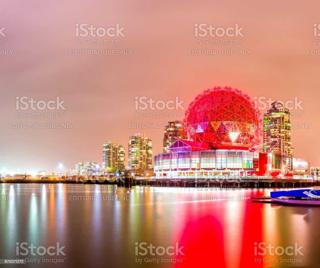 Colorful ball at night stock photo