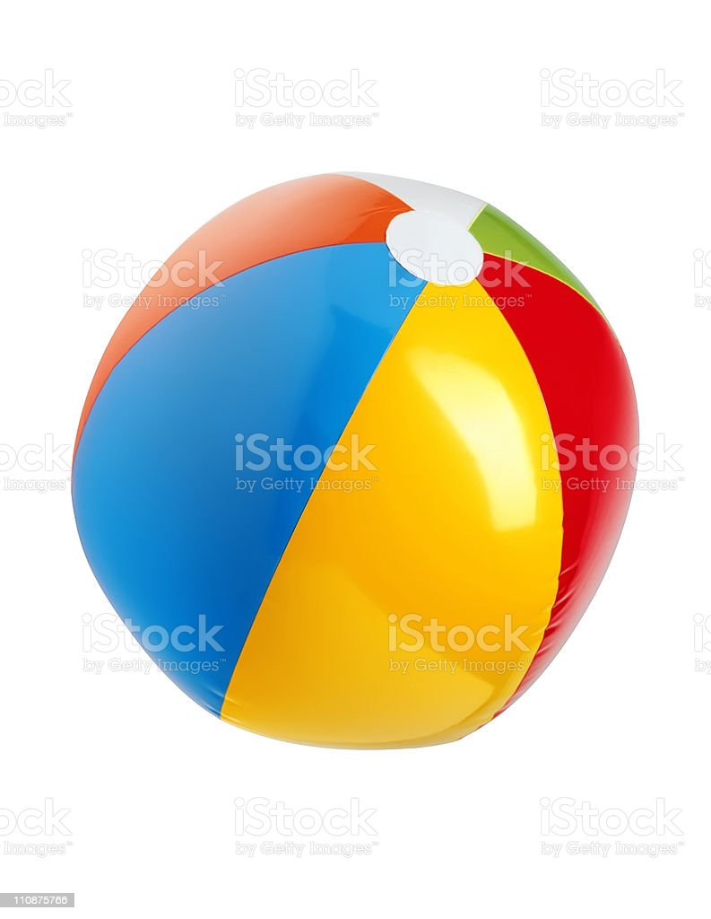 Colorful Ball isolated on white background stock photo