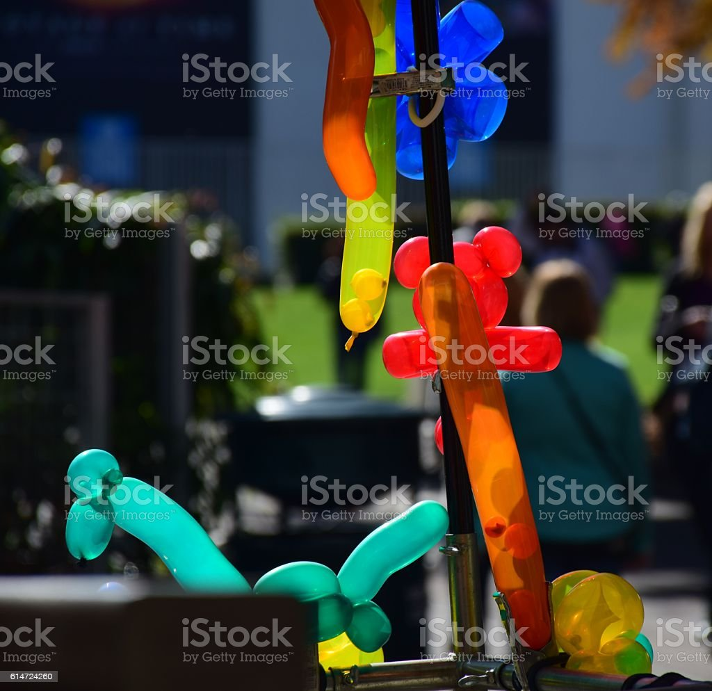 colorful balloon animals stock photo