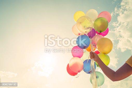 istock Colorful balloon 506299192
