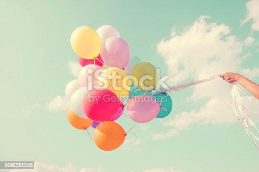 istock Colorful balloon 506299256