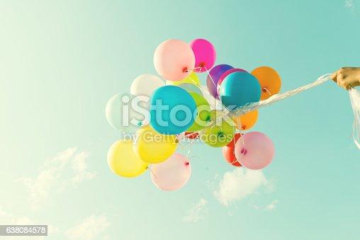 istock Colorful balloon 638084578