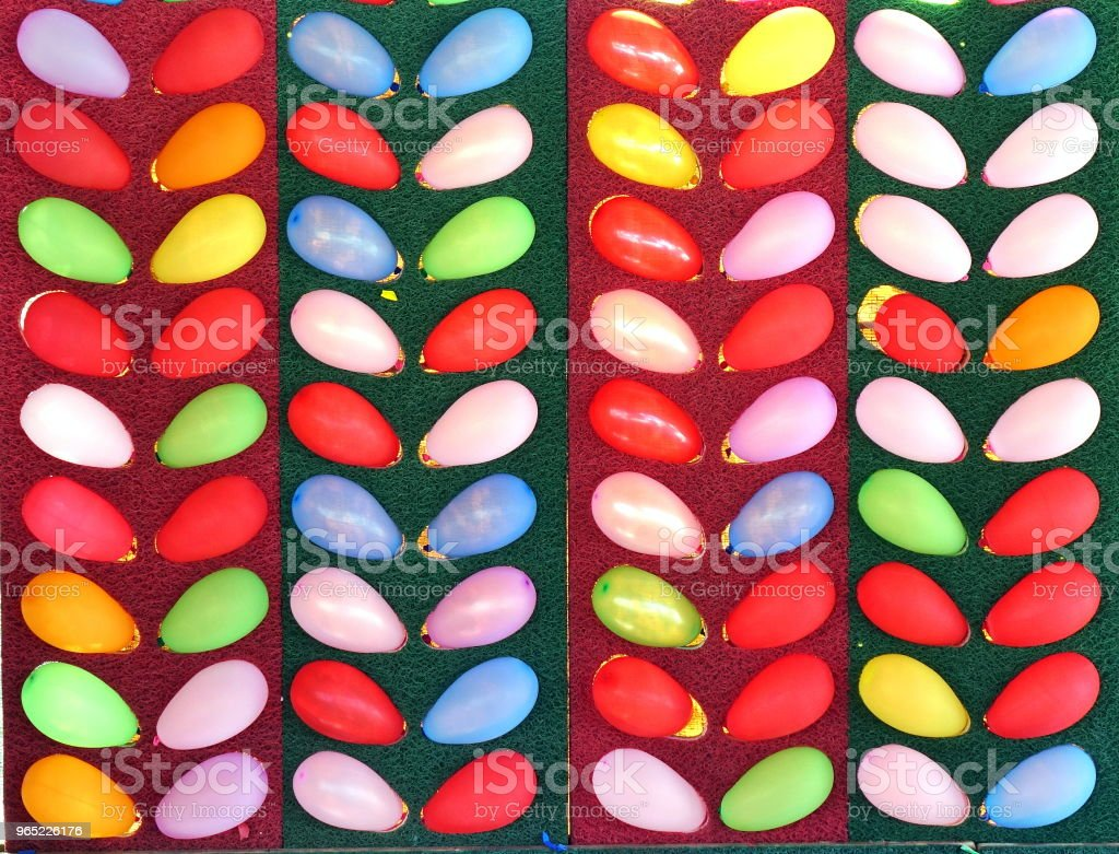 Colorful Balloon Popping Game royalty-free stock photo