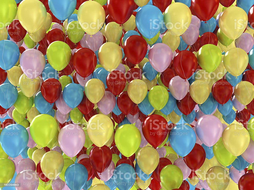 Colorful Balloons Background royalty-free stock photo