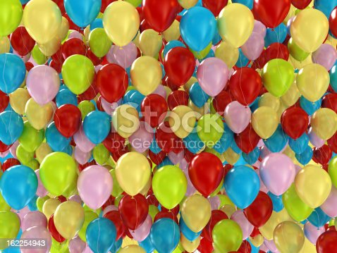 istock Colorful Balloons Background 162254943
