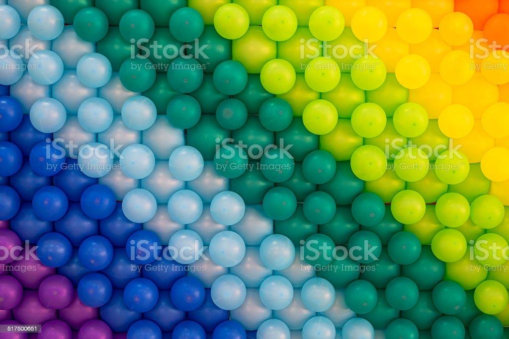 Bunten Luftballons Hintergrund – Foto