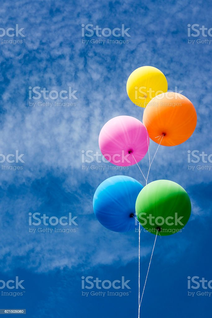 Colorful Balloons Bunch Lizenzfreies stock-foto