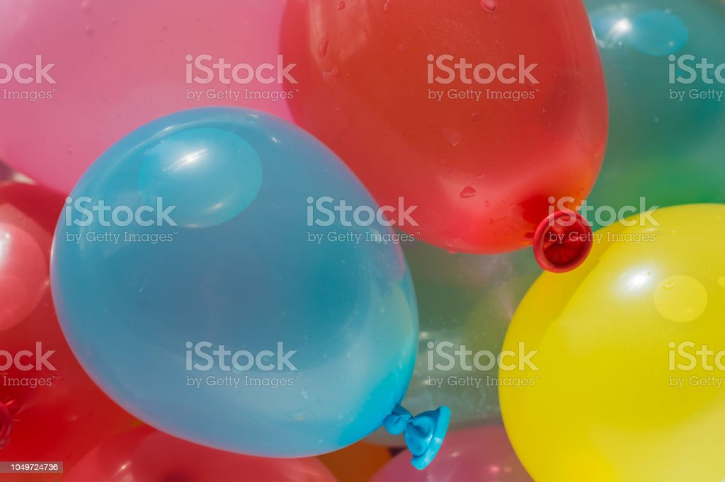 Colorful Balloons Filled With Water Stock Photo - Download