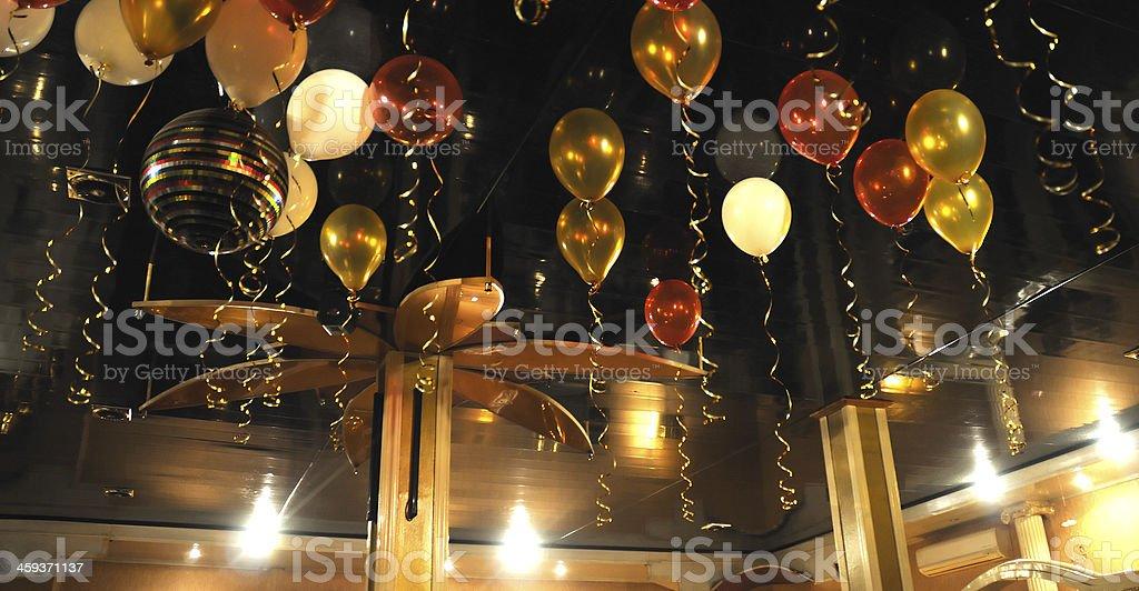 Красочные Воздушные шарики в помещении стоковое фото