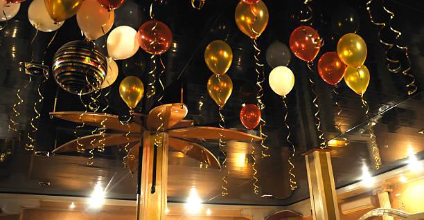 Cтоковое фото Красочные Воздушные шарики в помещении