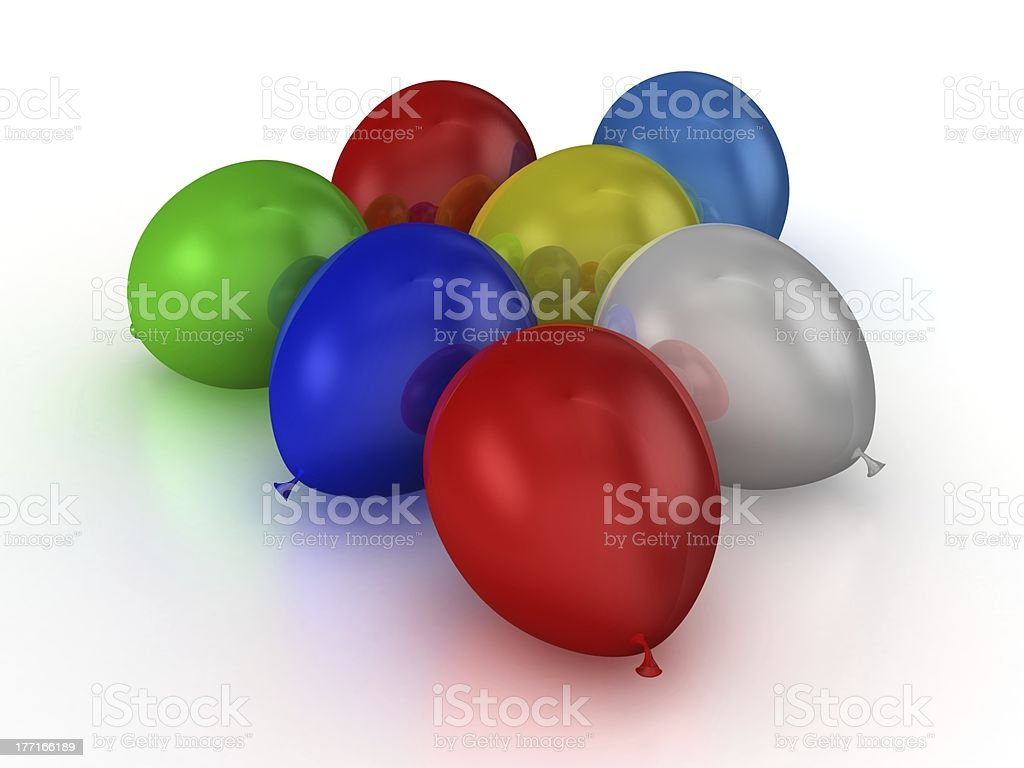 Colorful Balloons on Ground royalty-free stock photo