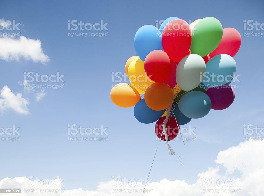 Bunte Ballons - Lizenzfrei Luftballon Stock-Foto
