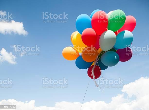 Bunte Ballons Stockfoto und mehr Bilder von Luftballon