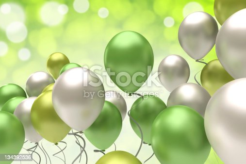 colorful balloons on a festive background