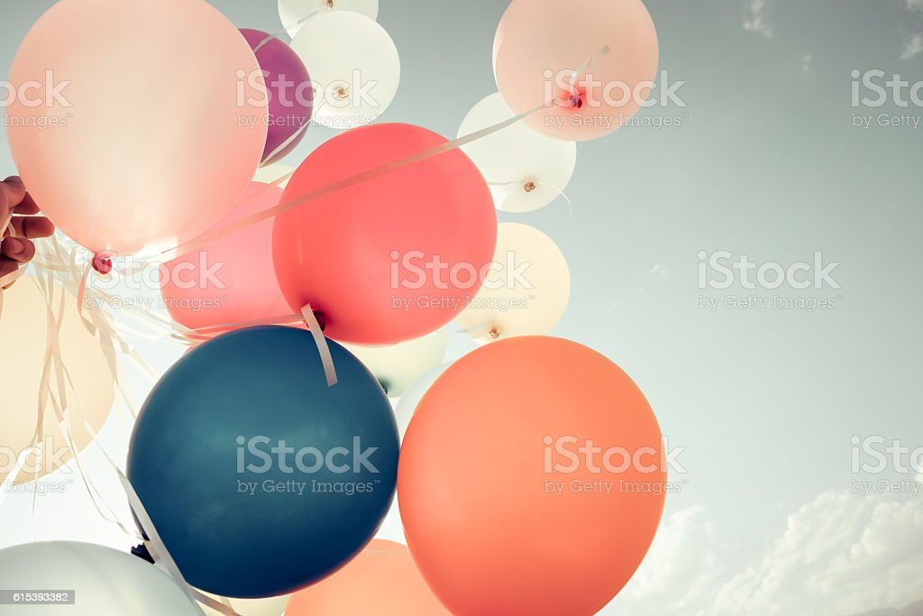 Colorful balloons stock photo