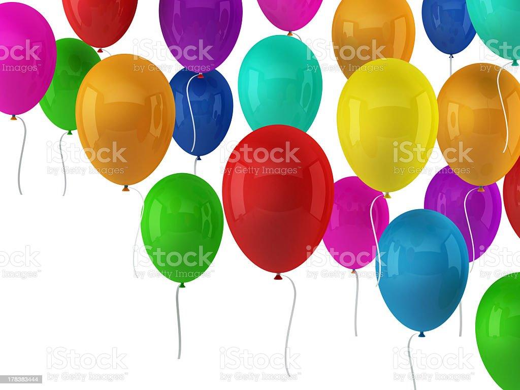 Colorful Balloons Wallpaper Royalty Free Stock Photo