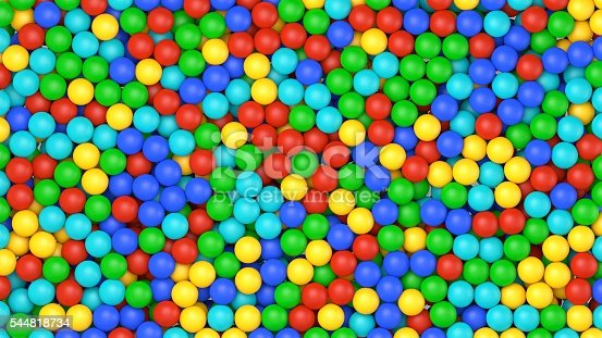 istock Colorful balls background. 3D Render 544818734