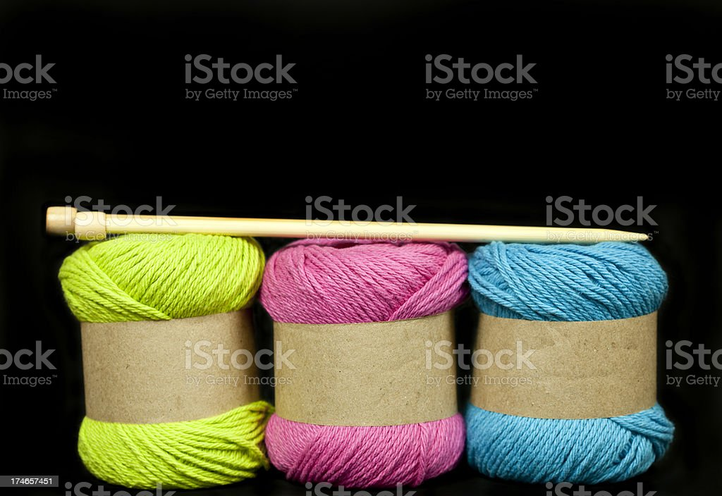Colorful Balls of Wool royalty-free stock photo
