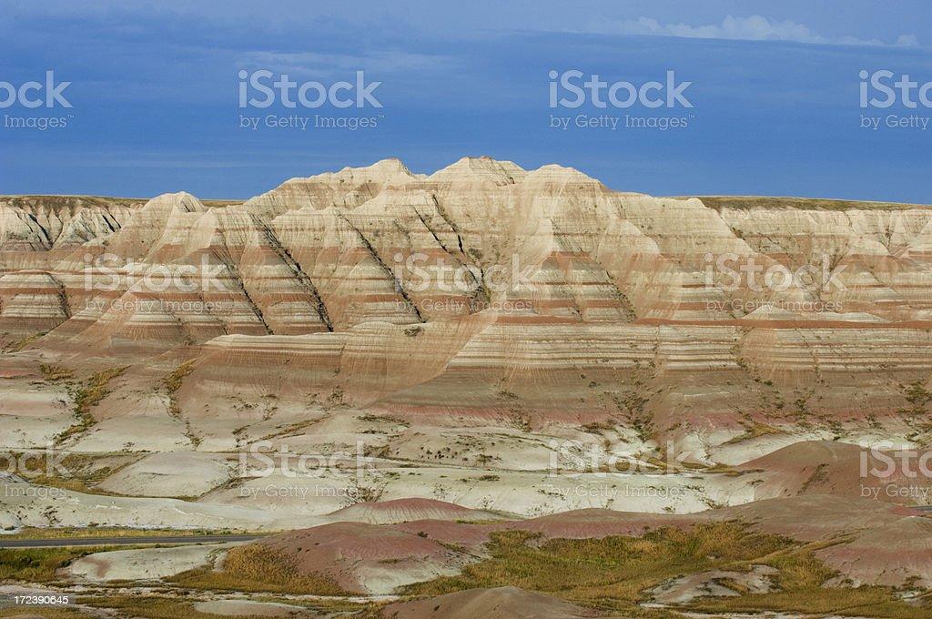 Colorful Bandlands Landscape stock photo